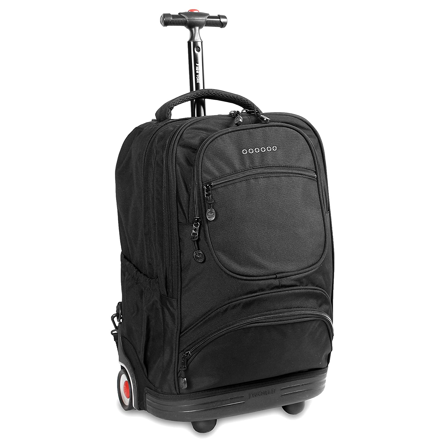 Amazon.com | J World New York Sunburst Rolling Backpack, Black ...