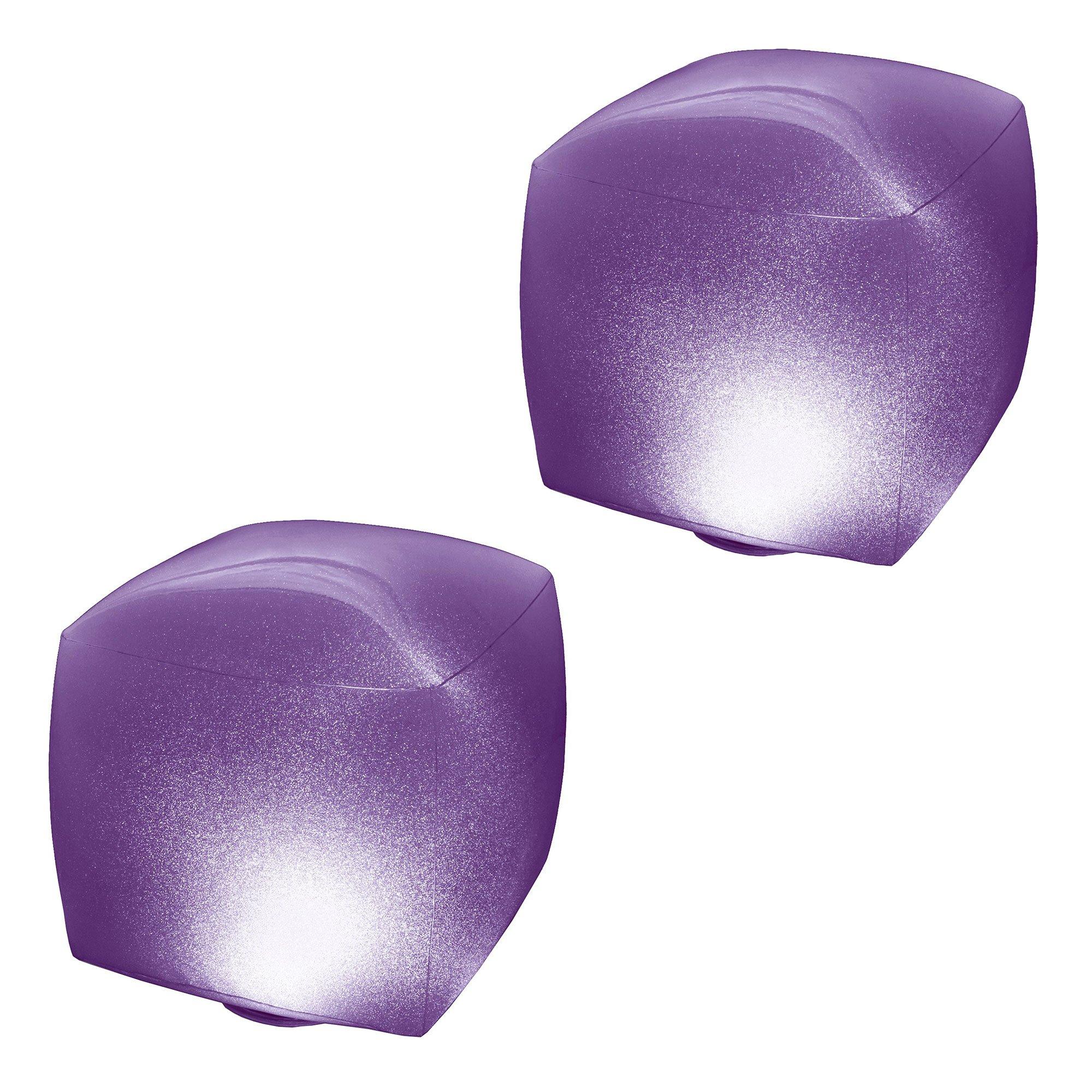 Intex Inflatable Illuminating Multi-Color LED Swimming Pool Cube (2 Pack)