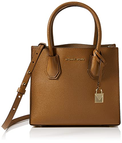 Amazon.com  MICHAEL Michael Kors KORS STUDIO Mercer Medium Messenger Acorn   Shoes 4f1666836b768