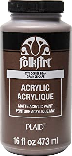 product image for FolkArt Matte Acrylic Paint in Assorted Colors, 16 oz, Coffee Bean 16 Fl Oz