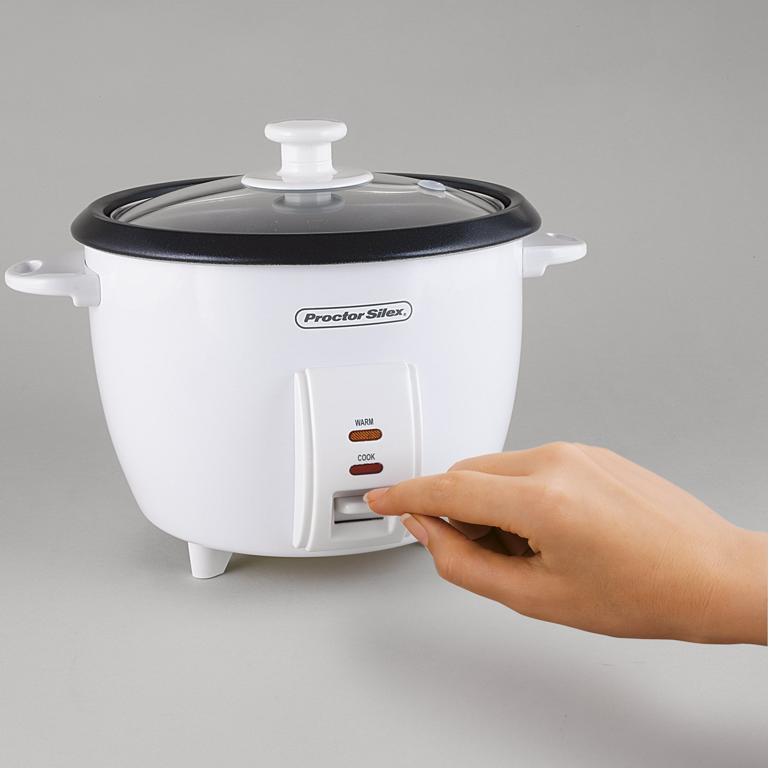 Proctor Silex (37534NR) Rice Cooker 4 Cups uncooked resulting in 8 Cups cooked, Mini, White by Proctor Silex (Image #4)