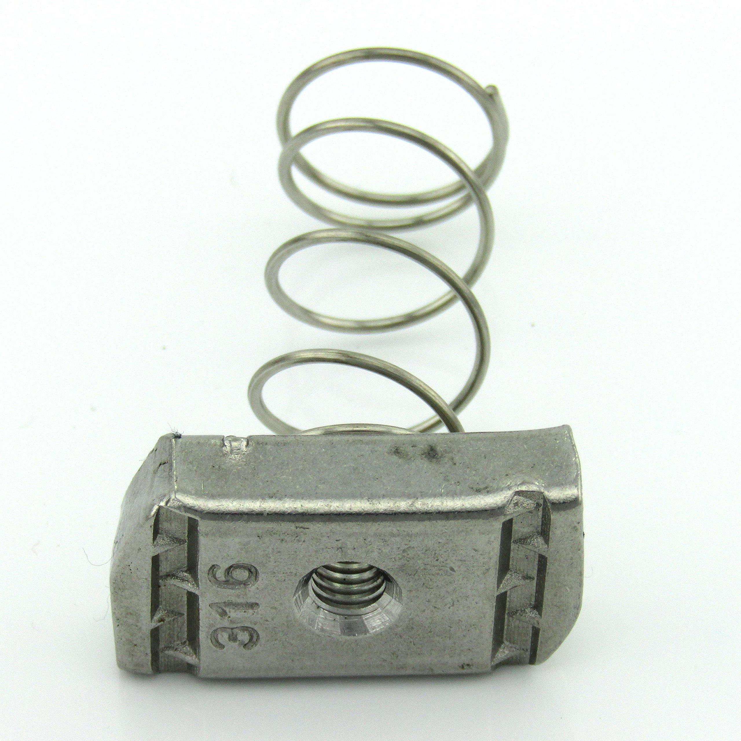 6mm Spring Nut 316 S/S (100 per box)