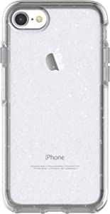 OtterBox SYMMETRY CLEAR SERIES Case for iPhone SE (2nd gen - 2020) and iPhone 8/7 (NOT PLUS) - Retail Packaging - STARDUST (SILVER FLAKE/CLEAR)