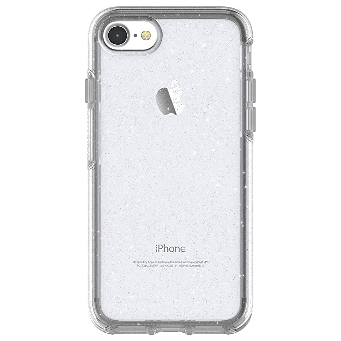 watch 07fe3 946b0 OtterBox SYMMETRY CLEAR SERIES Case for iPhone 8 & iPhone 7 (NOT Plus) -  Retail Packaging - STARDUST (SILVER FLAKE/CLEAR)