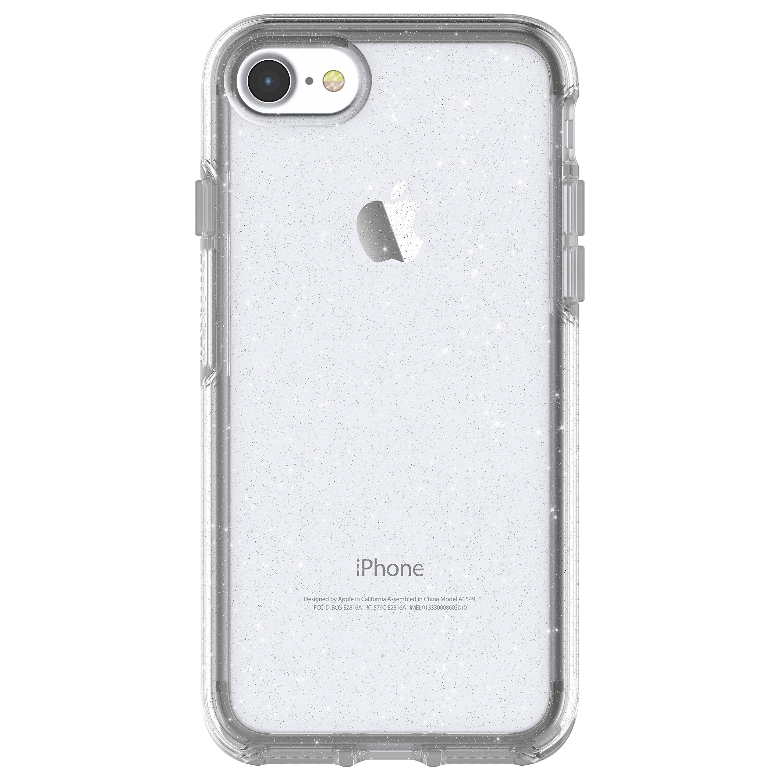 OtterBox SYMMETRY CLEAR SERIES Case for iPhone 8 & iPhone 7 (NOT Plus) - Retail Packaging - STARDUST (SILVER FLAKE/CLEAR)
