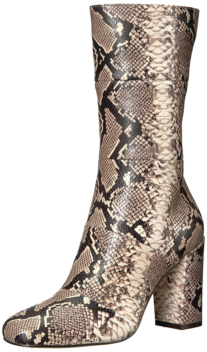 The Fix Women's Skylar Mid-Shaft Material-Block Fashion Boot B074JNN7DF 7 B(M) US|Mushroom Python Embossed Leather