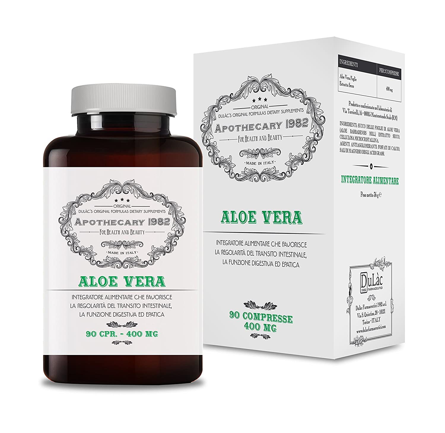Amazon.com: Apothecary 1982 - Aloe Vera - 90 Tablets - Detox Action - to Help You Lose Weight (Combined with a Healthy Diet and Physical Activity) - 100% ...