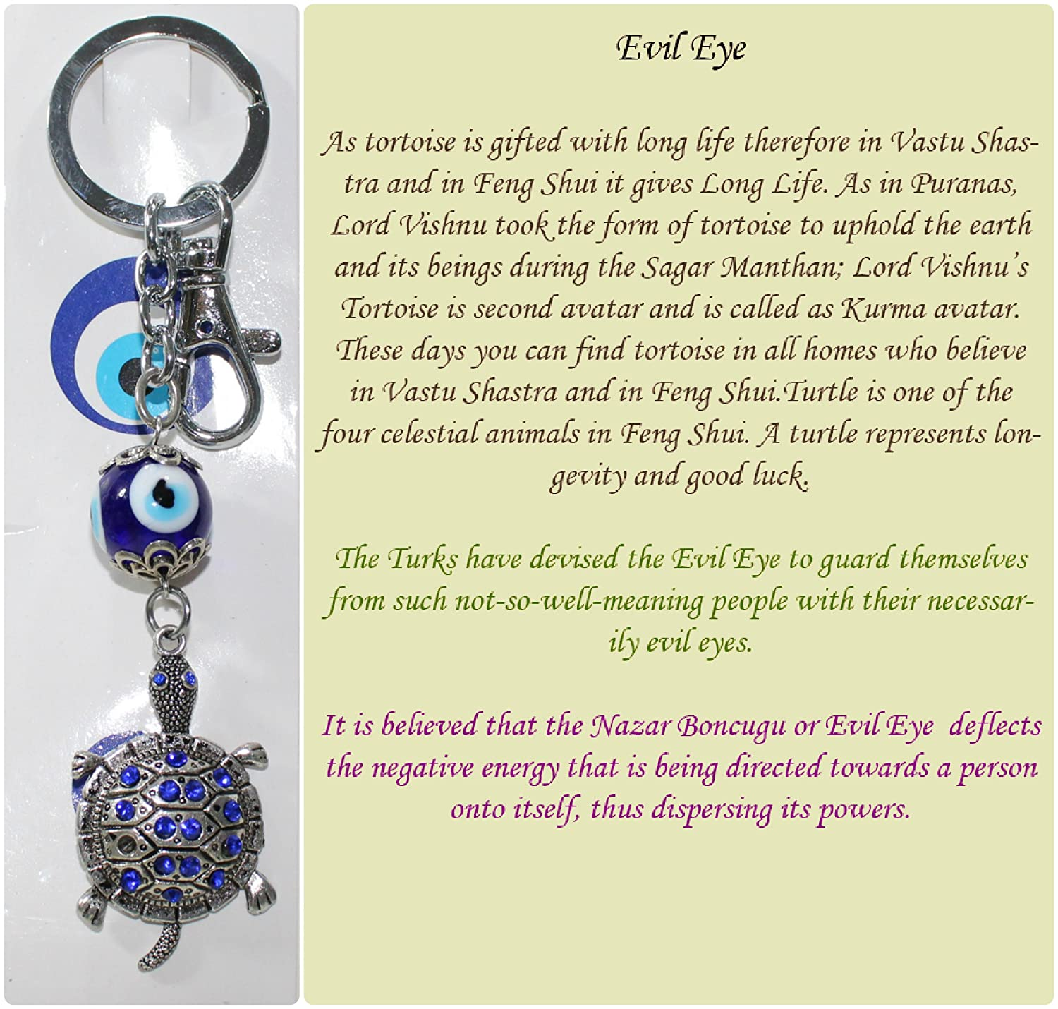 Fcs tortoise key ring with turkish evil eye to protect amazon fcs tortoise key ring with turkish evil eye to protect amazon electronics buycottarizona Image collections