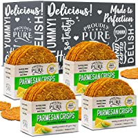 Proudly Pure Parmesan Cheese Crisps - Keto Snacks Zero Carb Crunchy Delicious Healthy 100% Natural Aged Cheesy Parm Chips Wheat & Gluten Free Keto Crackers Low Carb Snacks (Jalapeno Pepper 10oz 4 Pk)
