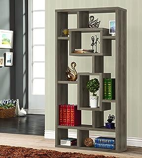Coaster 800512 Home Furnishings Bookcase, Weathered Grey