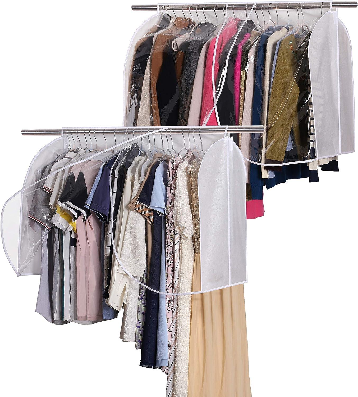 Garment Cover Closet Hanger Rack Organizer Clothes Dust Cover Transparent Window