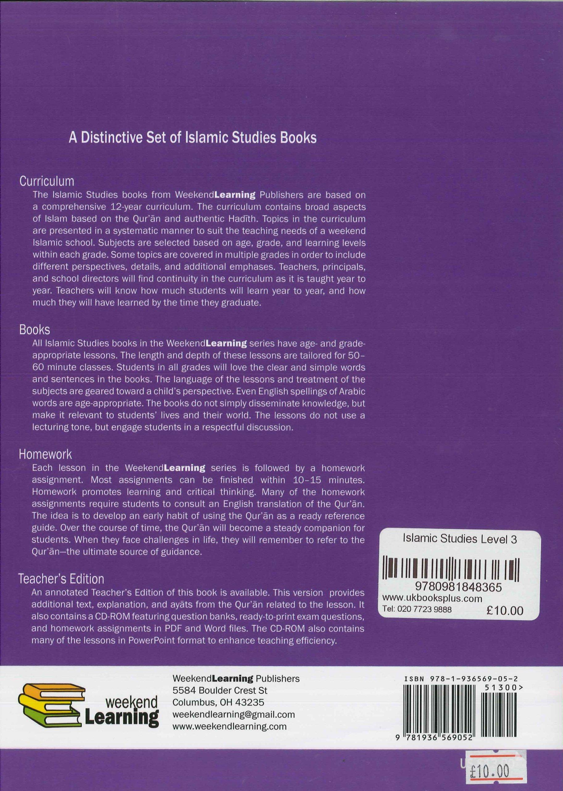 Islamic Studies Level 3: Amazon co uk: Dr  Husain A  Nuri and Mansur