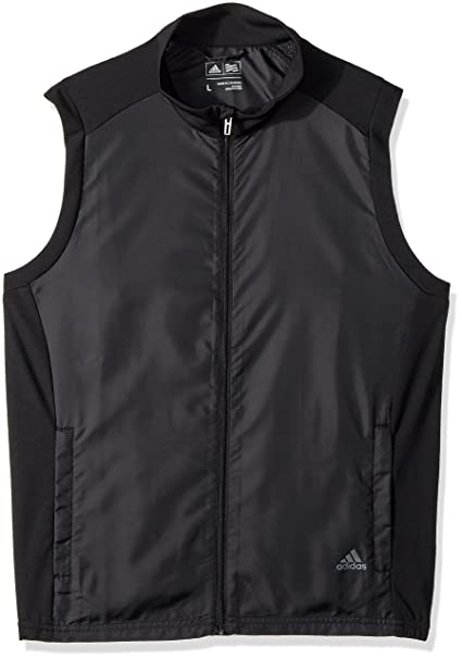 check out a2924 9e187 adidas Golf Wind Vest, Black, Small