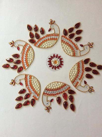 Christmas Home Decor Rangoli Diwali Decoration Designer Craft Handmade Sequin And Multicolor Beads For