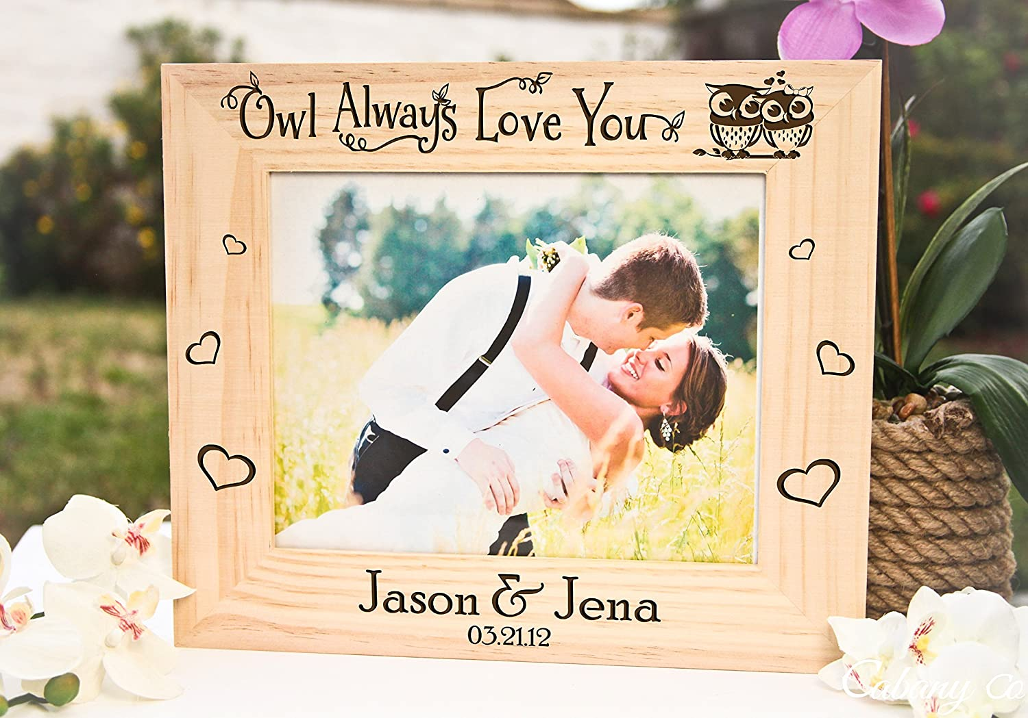 Amazon.com: Personalized Picture Frame - Owl Always Love You: Handmade