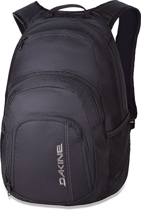 25L, Black : Dakine � Campus Backpack � Padded Laptop Sleeve � Insulated Cooler Pocket � Four Individual Pockets � 25L & 33L Size Options