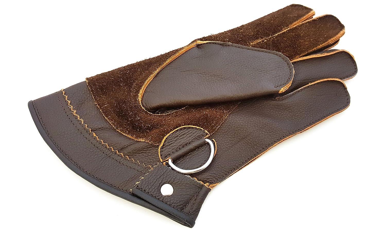 Calidad Piel Auténtica, doble capa Cetrería corto guantes/Bird Guantes de manejo/Pet Guantes. starlingukpk