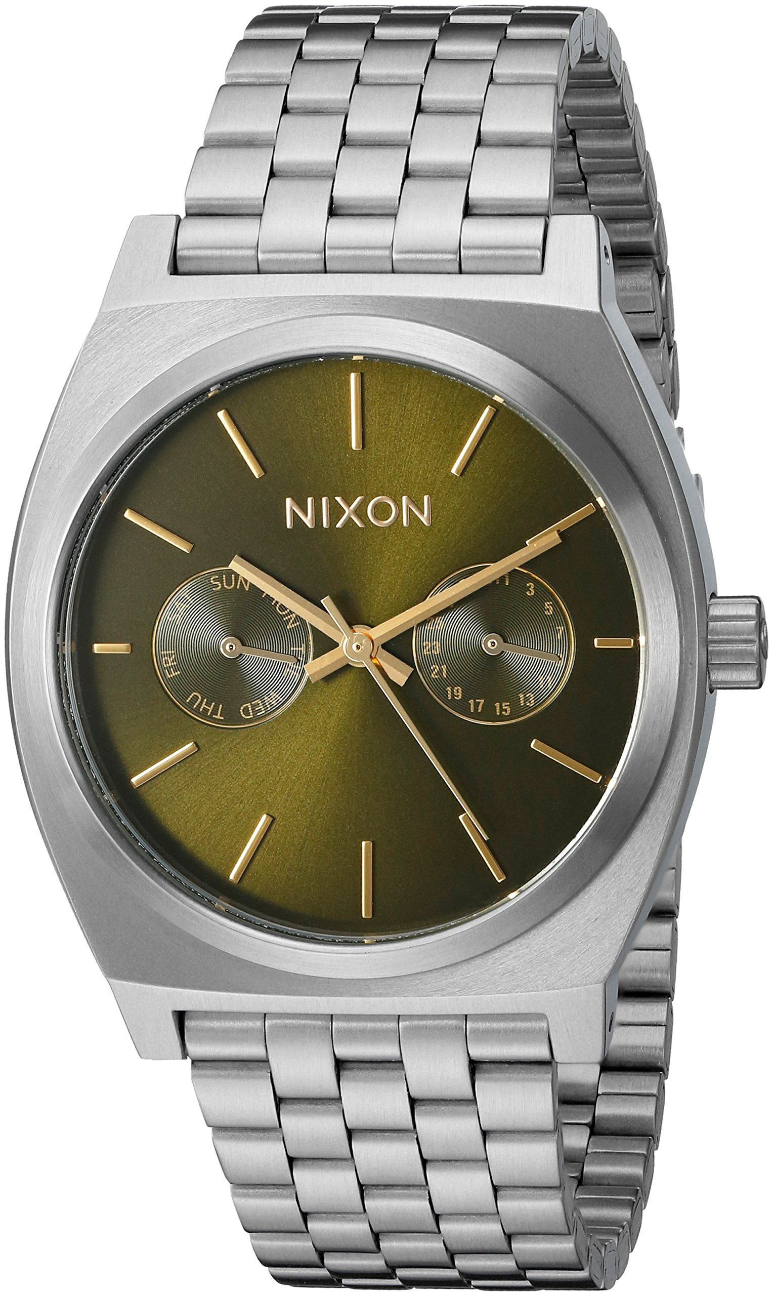 Nixon Unisex Time Teller Deluxe Olive Sunray Watch
