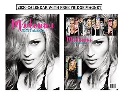 Madonna Calendario 2020 + imán para nevera Madonna: Amazon.es ...