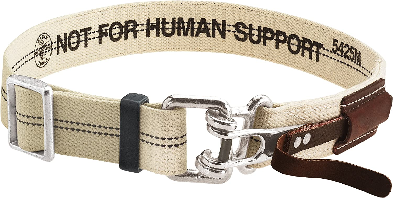 Tool Belt with Quick-Release Buckle, Cotton/Polyester Blend, Medium Klein Tools 5425M