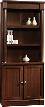 Sauder Palladia Library with Doors (Select Cherry)