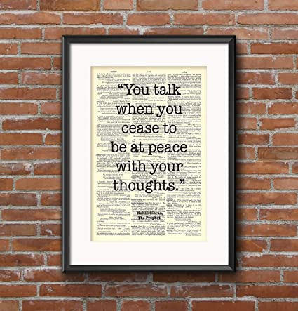 Amazon com: Kahlil Gibran - at Peace with Your Thoughts