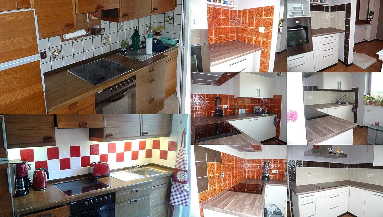 Foliesen fliesenaufkleber foliesen für küche u. bad   15x15 cm ...