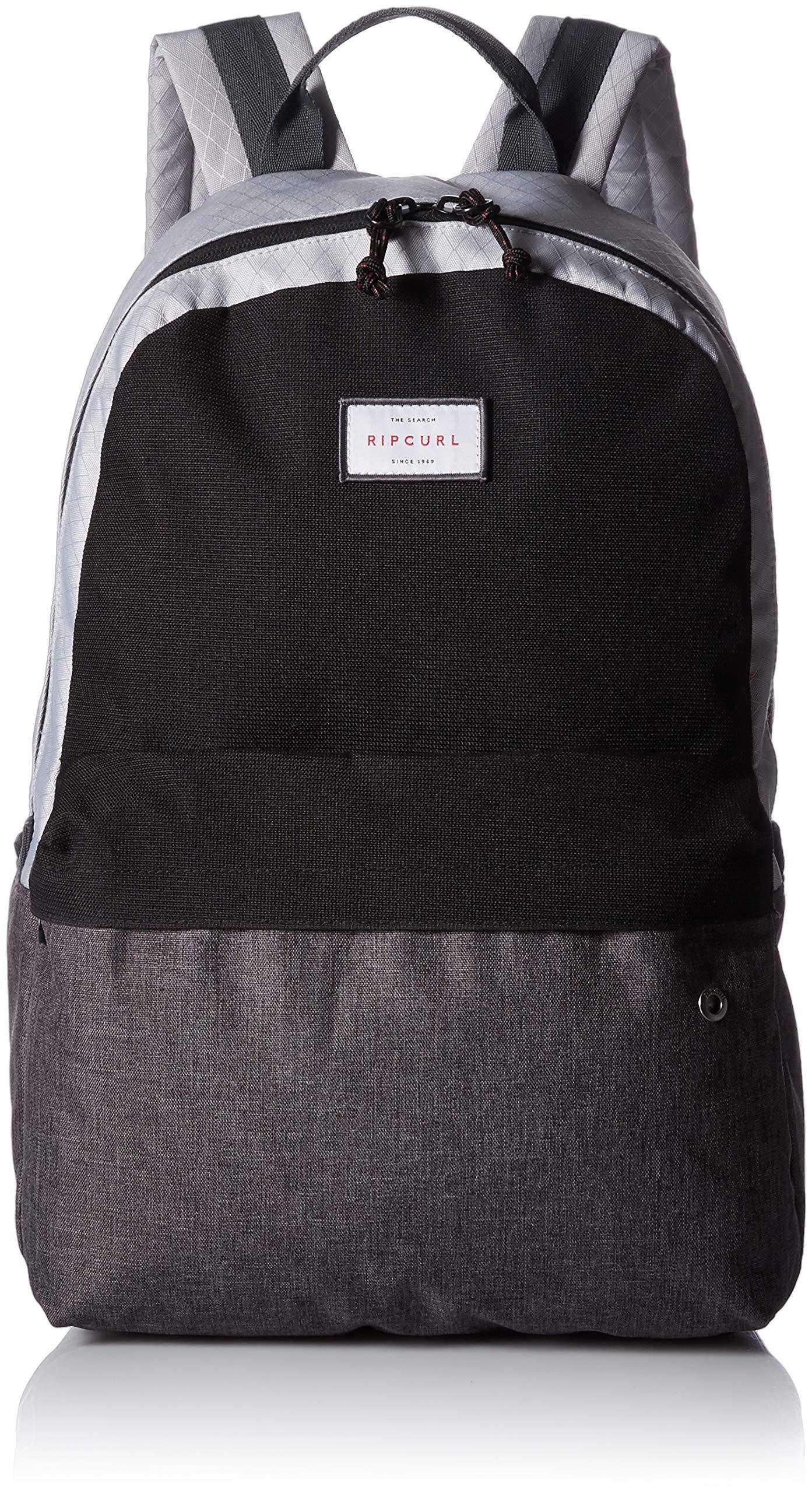 Rip Curl Men's Mood Stacka Lightweight Zippered Backpack, Grey, 1SZ