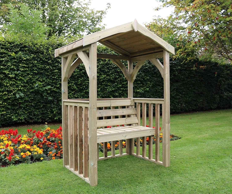 De madera Garden Arbour banco de jardín asiento de jardín Arbour ...