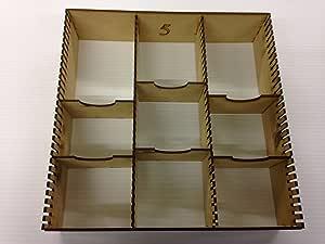 Caja organizadora de cartas (madera de contrachapado): Amazon.es: Hogar