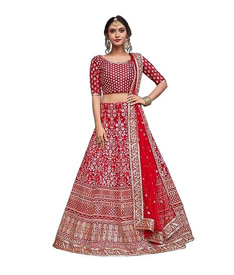 Buy SK Clothing Women's Art Silk Lehenga Choli (ADP Volume2