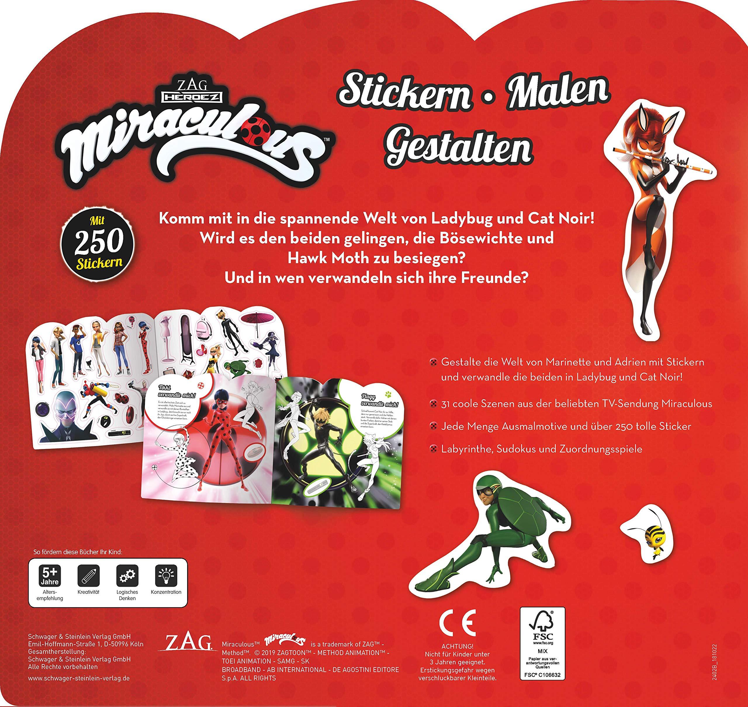 Miraculous Stickern Malen Gestalten Mit 250 Stickern Amazon De