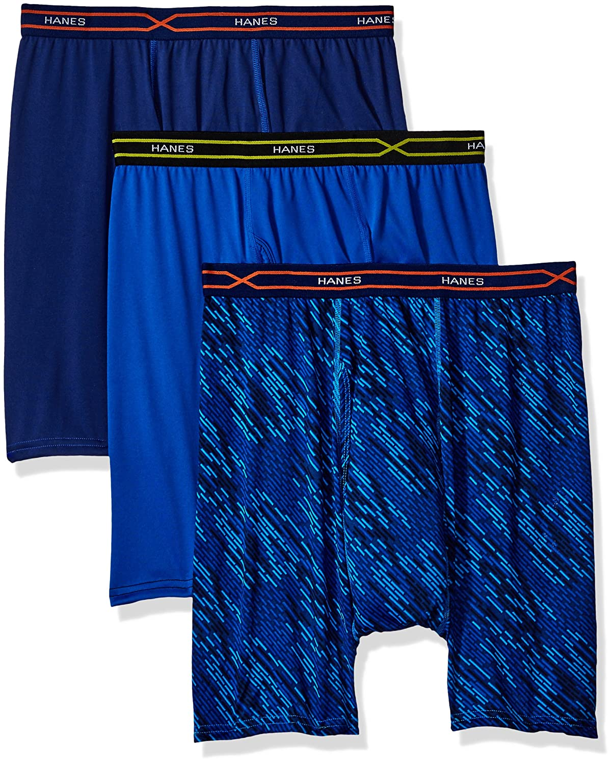Hanes Men's 3-Pack X-Temp Performance Cool Boxer Brief (1 Print/2 Solids)