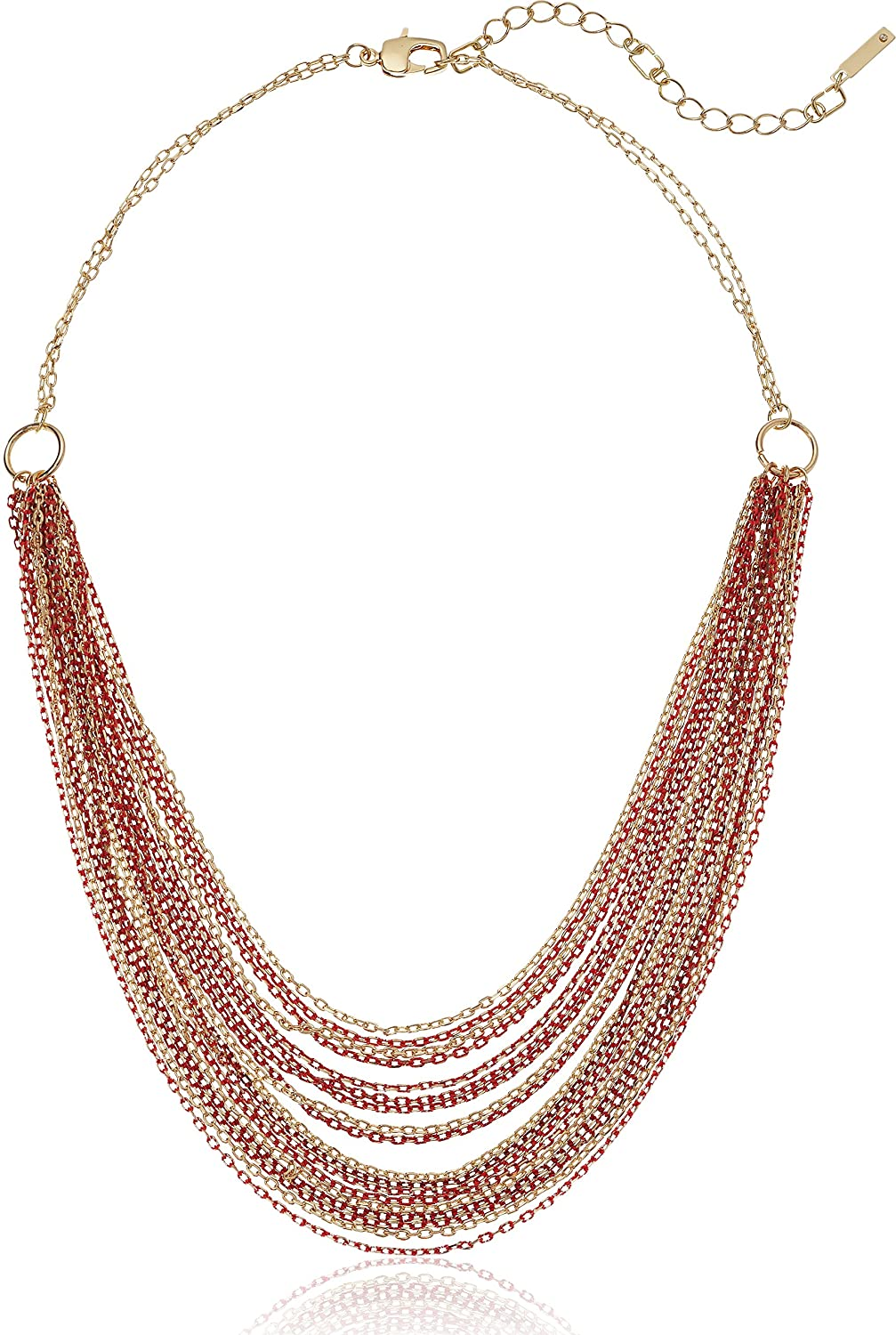 Kenneth Cole New York Women's Short Multi Row Chain Strand Necklace, Coral, One Size Kenneth Cole Jewelry K10267-N03