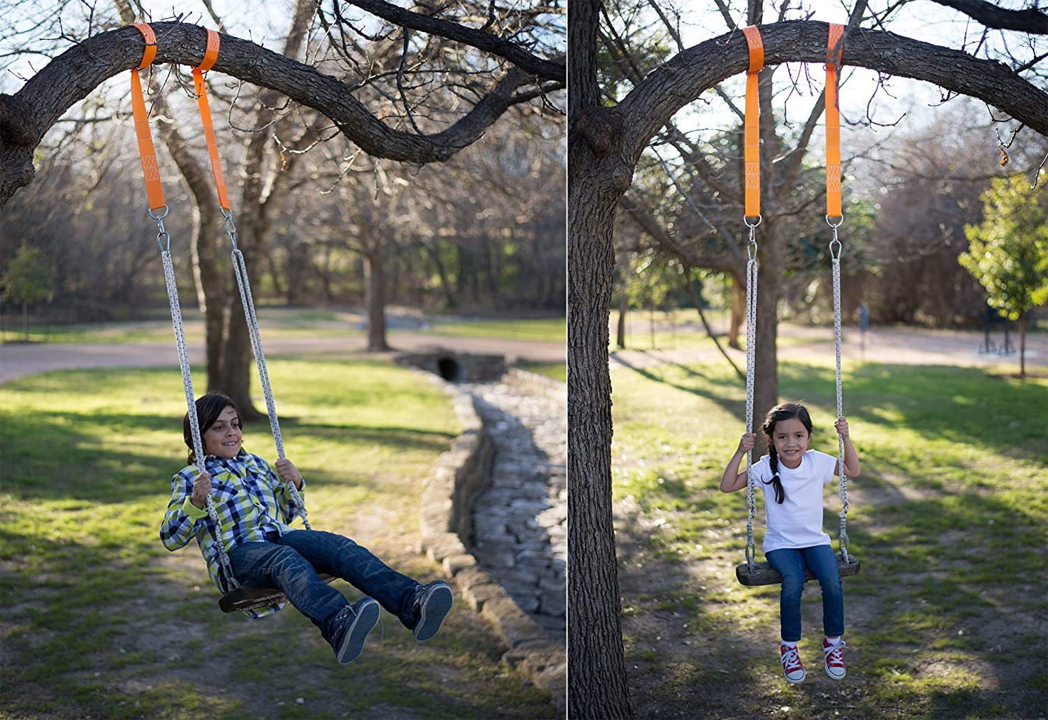 Image result for how to hang a swing from a tree without branches
