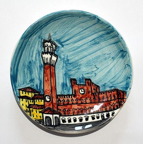 4073dc3dccbd Piazza del Campo de Siena-Plato de cerámica decorado con mano de ...