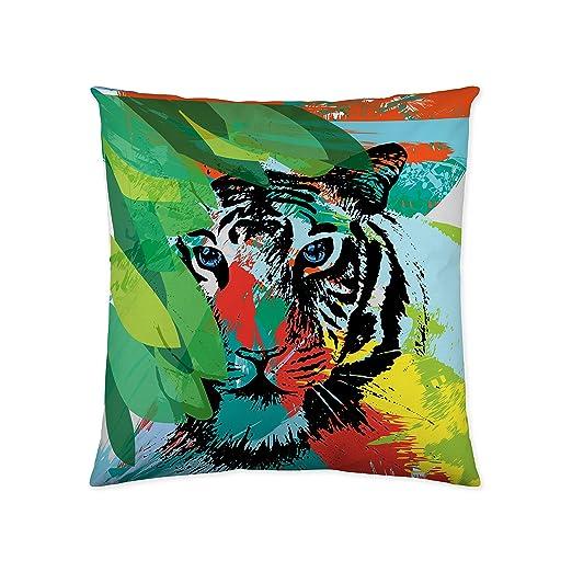 NATURALS Funda DE COJÍN Fantasy Tiger 60X60 CM: Amazon.es: Hogar