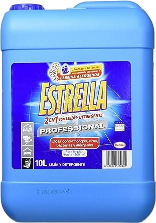 Estrella - Limpiador 2 en 1 con lejía y detergente - para uso profesional - 10 l: Amazon.es: Alimentación y bebidas