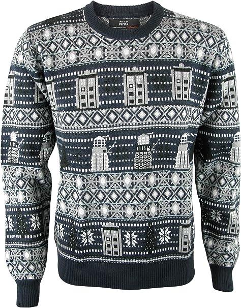 Amazon.com: Suéter de Navidad de Doctor Who Tardis and ...