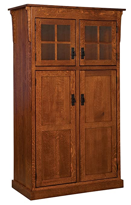 Amazon Com Kitchen Pantry Solid Wood Storage Cabinet Mission Arts