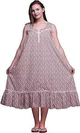 Women/'s Nightgown Sleeveless Nightie Maxi Nightgown White Nightie
