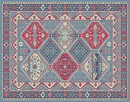 HomeLife Tapis Style Persan/Oriental en Coton pour Salon/Chambre à  Coucher/Salon avec Fond antidérapant et Impression numérique d\'inspiration  ...