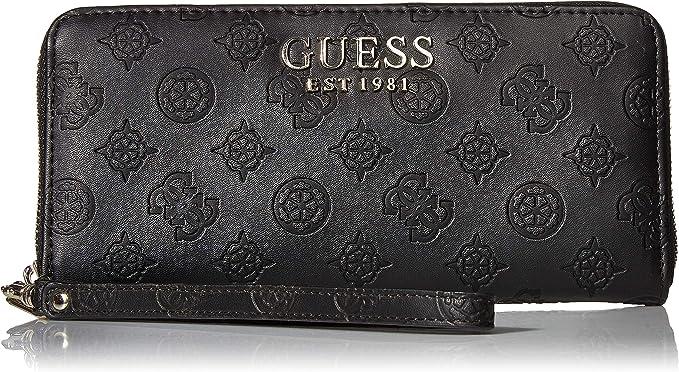 : GUESS Ilenia Large Zip Around Wallet, Black