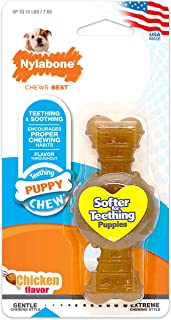 product image for Nylabone Just for Puppies Petit Chicken Flavored Puppy Dog Ring Bone Teething Chew Toy
