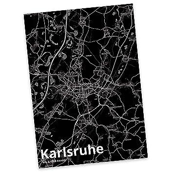 Karte Karlsruhe.Mr Mrs Panda Postkarte Stadt Karlsruhe Stadt Black Stadt Dorf