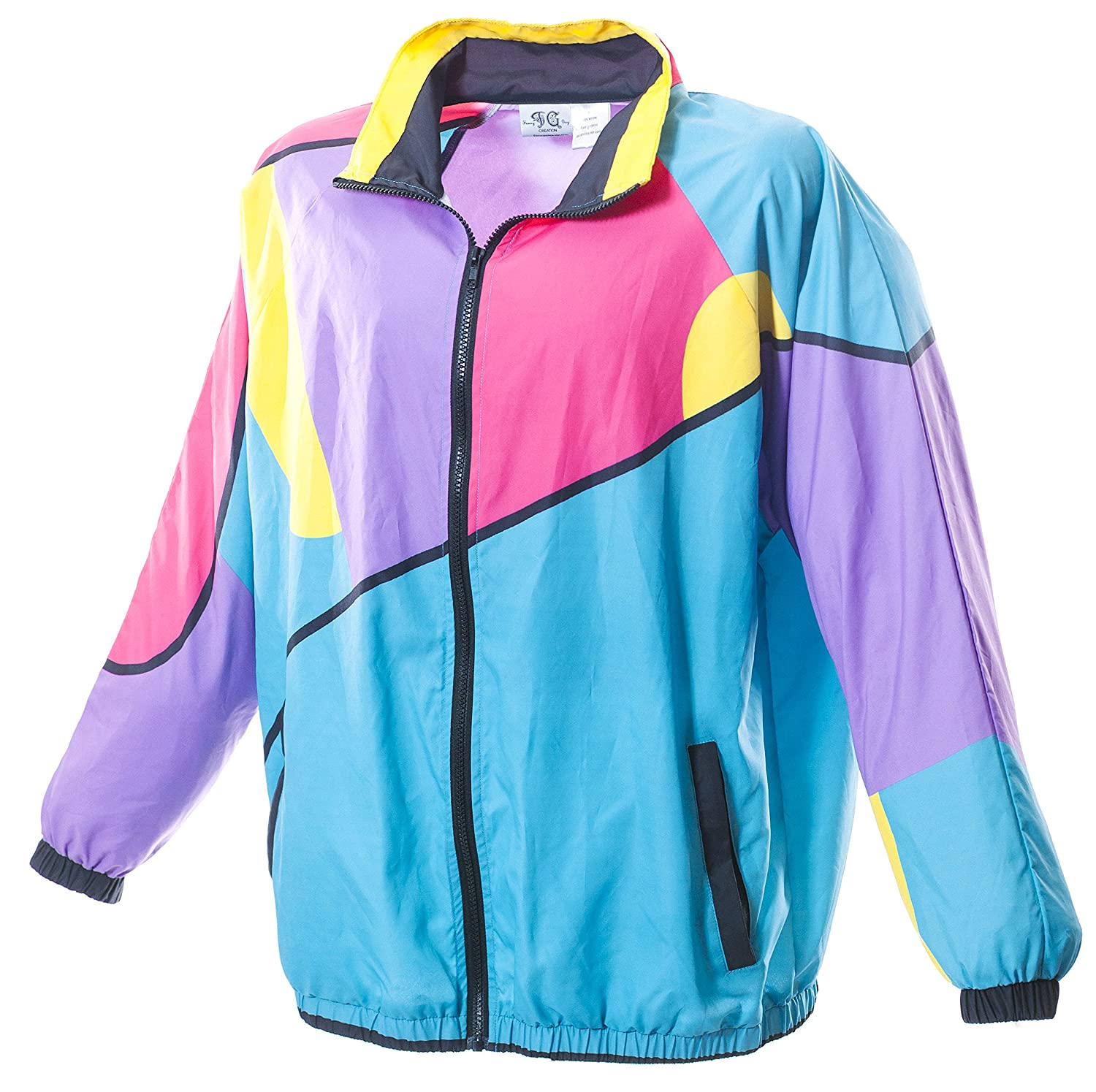 70s Jackets, Furs, Vests, Ponchos Funny Guy Mugs 80s & 90s Retro Neon Windbreakers $49.99 AT vintagedancer.com