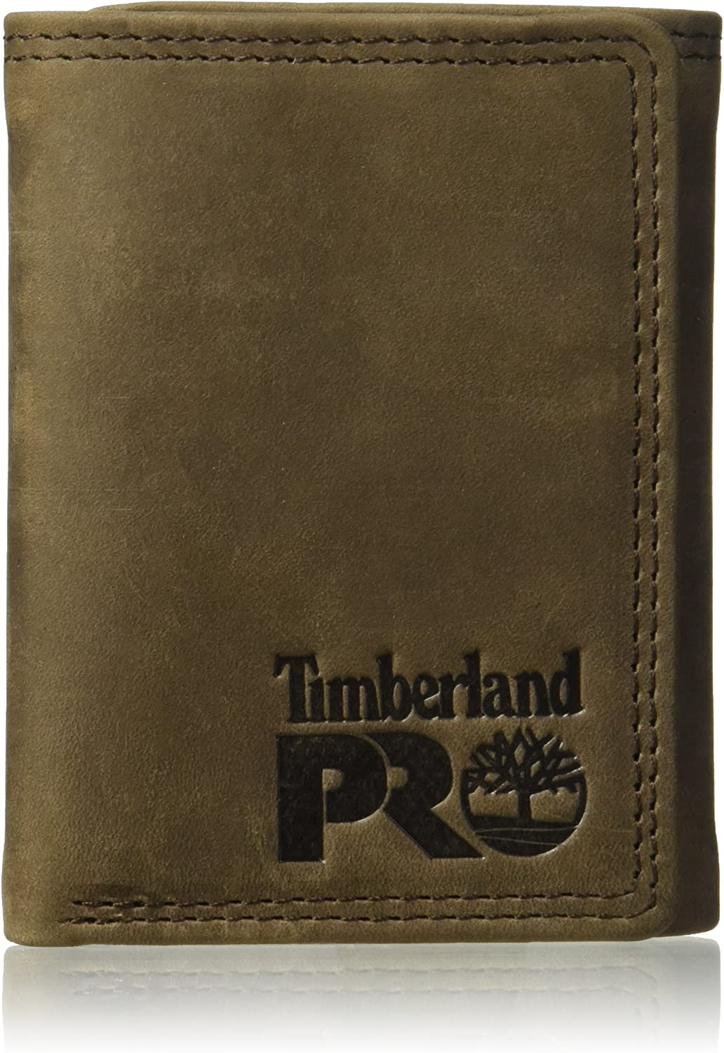 Timberland PRO Herren Leather RFID Trifold Wallet With ID