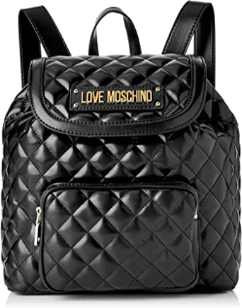 Love Moschino Quilted Nappa PU, Bolso tipo mochila para Mujer, rojo, 15x10x15 centimeters (W x H x L)