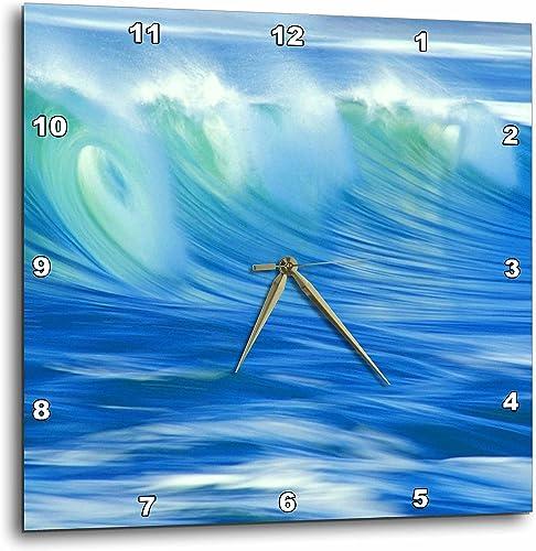 3dRose dpp_54117_1 Beauty of an Ocean Wave Wall Clock, 10 by 10-Inch
