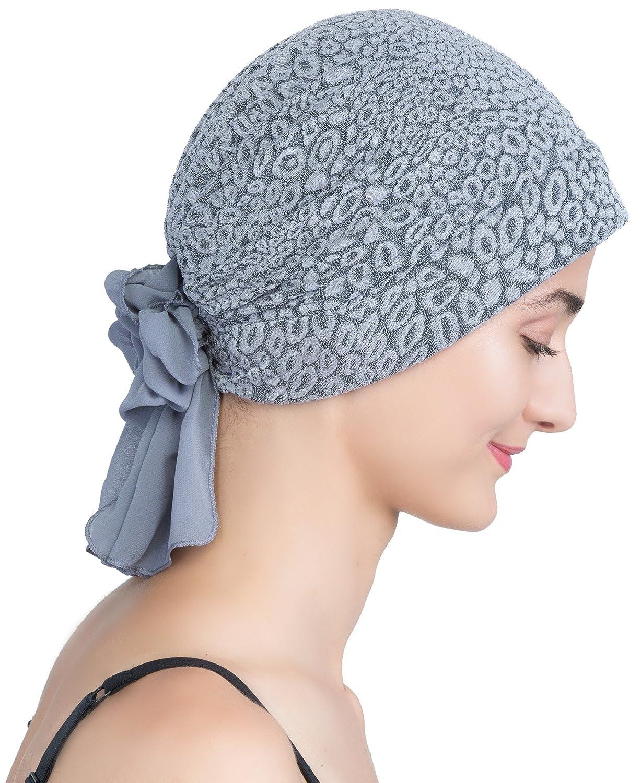 Deresina Headwear Cappello Broccato Con Georgette Farfallino per la perdita dei Capelli, il Cancro, la Chemioterapia OM-PPPR-NYK4